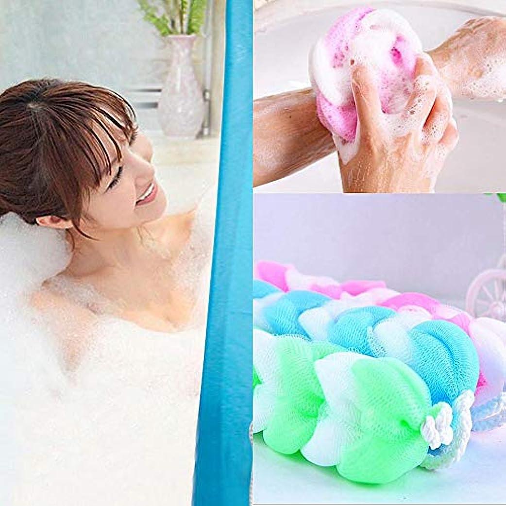 。贅沢なウェブWholehot ディスポンジ 背中 1個入り ボディウォッシュボール 柔らかい フラワーボール ボディスポンジ 泡立てネットボールボディ用 バスボール バススポンジ ネット お風呂用 浴室用 男女兼用 ナイロン製 色ランダム