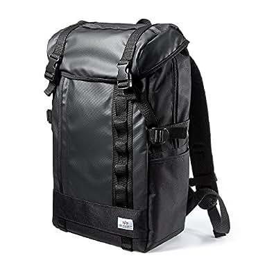 サンワダイレクト スクエアリュック バックパック メンズ 通学 通勤 iPad PC収納 A4対応 ブラック 200-BAGBP004BK