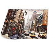 ニューヨーク 町並み キャンバス 装飾 油絵 塗り絵 ホームデコレーション