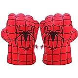 Junboys Plush Kids Boxing Glove Spiderman Toys Super Hero Spider Man Gloves, Smash Hands Fists Super Man Spider, Incredibles