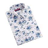Dioufond 森ガール風 カントリー調 牡丹柄 長袖 圓衿 シャツ 九つ色と八つサイズ