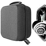 Geekria UltraShell Headphone Case for Sennheiser HD820, HD800, AKG Q701, K701, K702, K550, Beyerdynamic DT770, DT880Pro Headphones, Large Hard Shell Travel Headset Carrying Bag (Dark Gray)