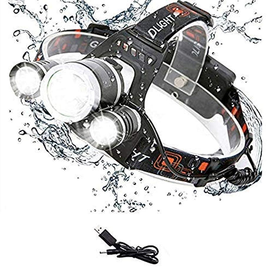 代表するボイラー連結するALSKY LED ヘッドランプ USB充電式 4種モード 防水 作業灯 防災 登山 釣り ランニング 夜釣り キャンプ ヘルメットライト ランタン