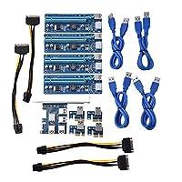 Fosa  PCI-Eから4ポートPCI-E拡張カード PCI エクスプレス ライザー・アダプターUSB3.0(マイニング用)