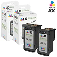 LD ? Remanufactured Canon CL-246 / 8281B001AA Set of 2 Color Inkjet Cartridges for Canon PIXMA iP2820, MG2420, MG2520, MG2920, MG2922, MG2924, MX490, and MX492 Printers [並行輸入品]