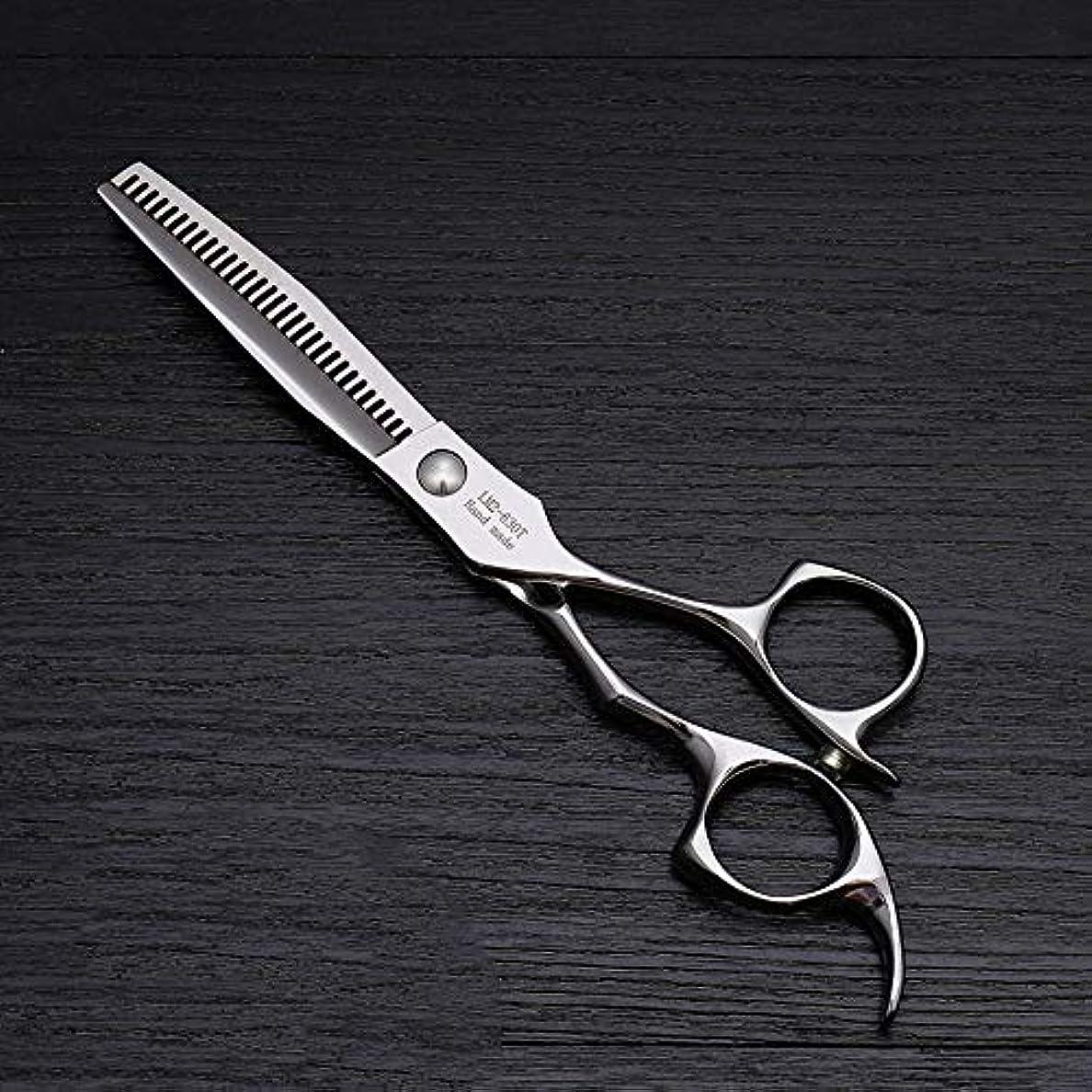 真剣に植物学定規Hairdressing 6インチのステンレス鋼の理髪はさみ、美容院の毛の切断用具の薄くなるはさみの毛の切断はさみのステンレス製の理髪師のはさみ (色 : Silver)