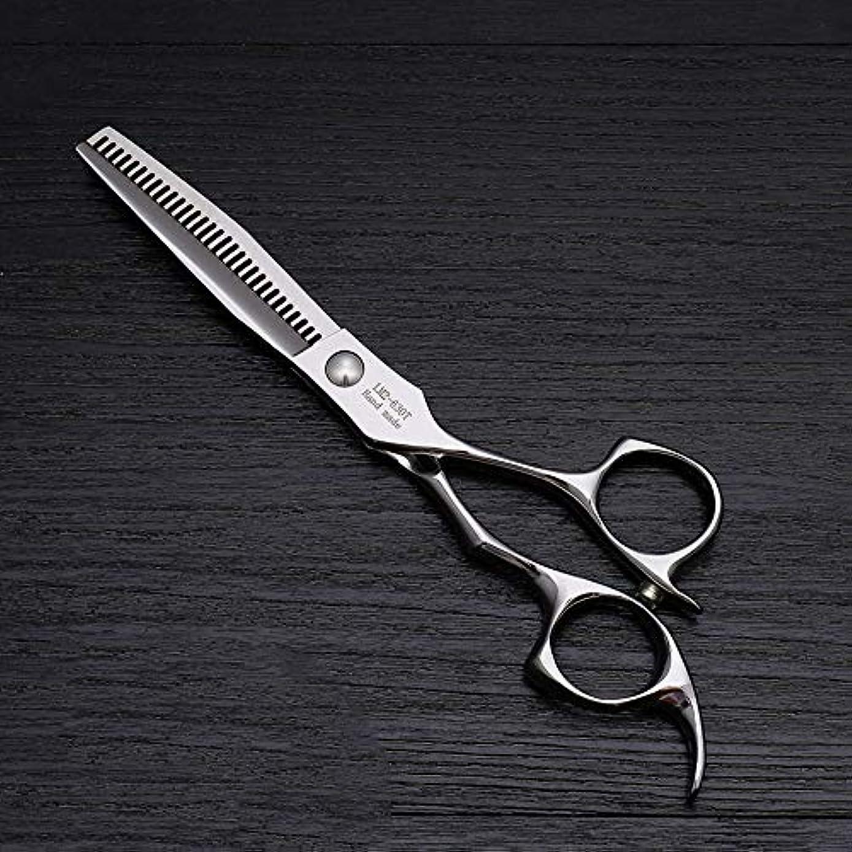 注意経由で絶え間ない6インチのステンレス鋼の理髪はさみ、美容院の毛の切断用具 ヘアケア (色 : Silver)