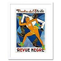Theatre Ad Stage Show Revue Negre Jazz Dance Paris Framed Wall Art Print