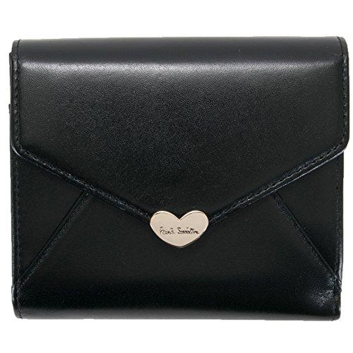 ポールスミス Paul Smith 正規品 ラブレター 二つ折り 財布 【ショップバッグ付き】 レディース ブランド ウォレット (ブラック)