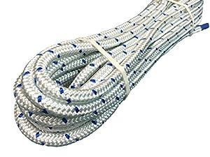 青ステッチ ナイロンロープ 太さ:10mm 10M巻