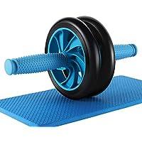 腹筋ローラー アブローラー OlymFits アブホイール エクササイズウイル ダイエット器具 おすすめ スリムトレーナー 筋トレ トレーニング マット付き 2輪 クールタオル 速乾 スポーツ タオル