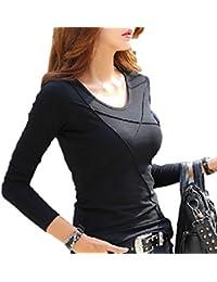 [イーグルハート] ロング Tシャツ パイピング デザイン 長袖 カットソー トップス レディース EH007