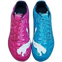 PUMA Evopower 3 Tricks FG Boys Football Boots/Cleats - Blue and Purple
