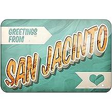 Metal Sign Greetings from San Jacinto, Vintage Postcard, Small 12x16