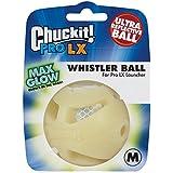 Chuckit! 33071 Pro LX Whistle Ball, Glow White