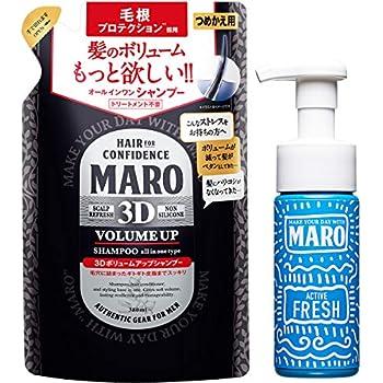 MARO(マーロ) 3Dボリュームアップシャンプー 泡洗顔付き セット 380ml+泡洗顔150ml