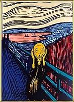 ポスター アンディ ウォーホル Sunday B Morning The Scream orenge (After Munch) 限定1500枚 証明書付 額装品 アルミ製ベーシックフレーム(ゴールド)