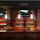 Zyurong 【LEDフィラメント電球付き】ペンダントライト ガラス 真鍮 シーリングライト 照明器具 レトロ アンティーク調 シンプル おしゃれ 可愛い 欧米風 工業風 E27電球に適用 ダイニング 食卓 玄関 居間 和室 led対応 全9様式