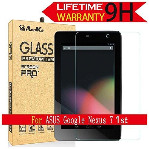 Nexus 71st Generationスクリーンプロテクター、( Asus 2012モデル) AnoKe ( 0.3mm 9h )強化ガラススクリーンプロテクターフィルムfor Asus Google Nexus 71ndガラス