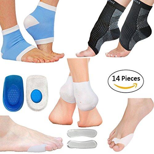 足底筋膜炎足圧縮スリーブキット、足首&足痛み止めソックス、ヒ...
