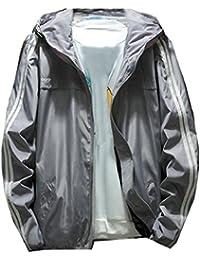 Keaac メンズスリムフィットロングスリーブ軽量フーデッドボンバージャケット
