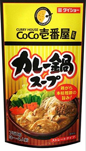ダイショー CoCo壱番屋 カレー鍋スープ パウチ 750g