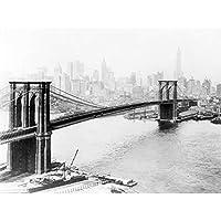 New York City Brooklyn Bridge Manhattan Vintage Photo 1915 Unframed Wall Art Print Poster Home Decor Premium ニューヨークシティブリッジビンテージ写真壁ポスターホームデコ