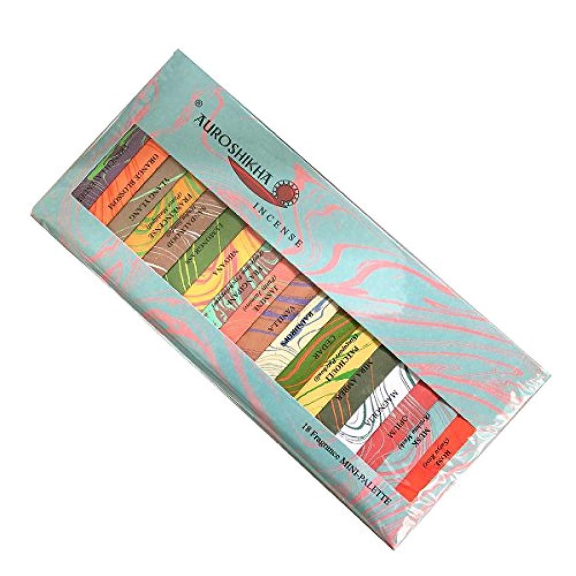 田舎者活発ひどくauroshikha (オウロシカ) マーブルパッケージ ミニパレット18種類の香りアソート スティック !