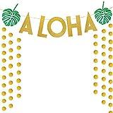 ALOHAレター ハワイアン アロハ バナー 葉 パーティー用品 写真撮影小道具 ガーランド 部屋 壁飾り 吊り飾り付け