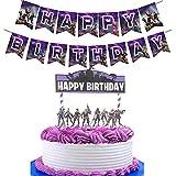 Awyjcas ビデオゲームパーティー記念品 誕生日バナー パーティー用品 男の子の赤ちゃん誕生日ケーキ キッズ バトルロイヤル ゲーマーパーティー装飾