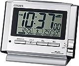 シチズン 電波 目覚まし 時計 デジタル パルデジットユーイ 温度 湿度 カレンダー 表示 銀色 CITIZEN 8RZ134-019