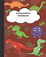 Composition Notebook: Wide Ruled Dinosaur composition notebook I