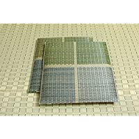 【日本製】純国産/日本製 織込千鳥 い草座布団 『フブキ 2枚組』 グリーン 約55×55cm×2P