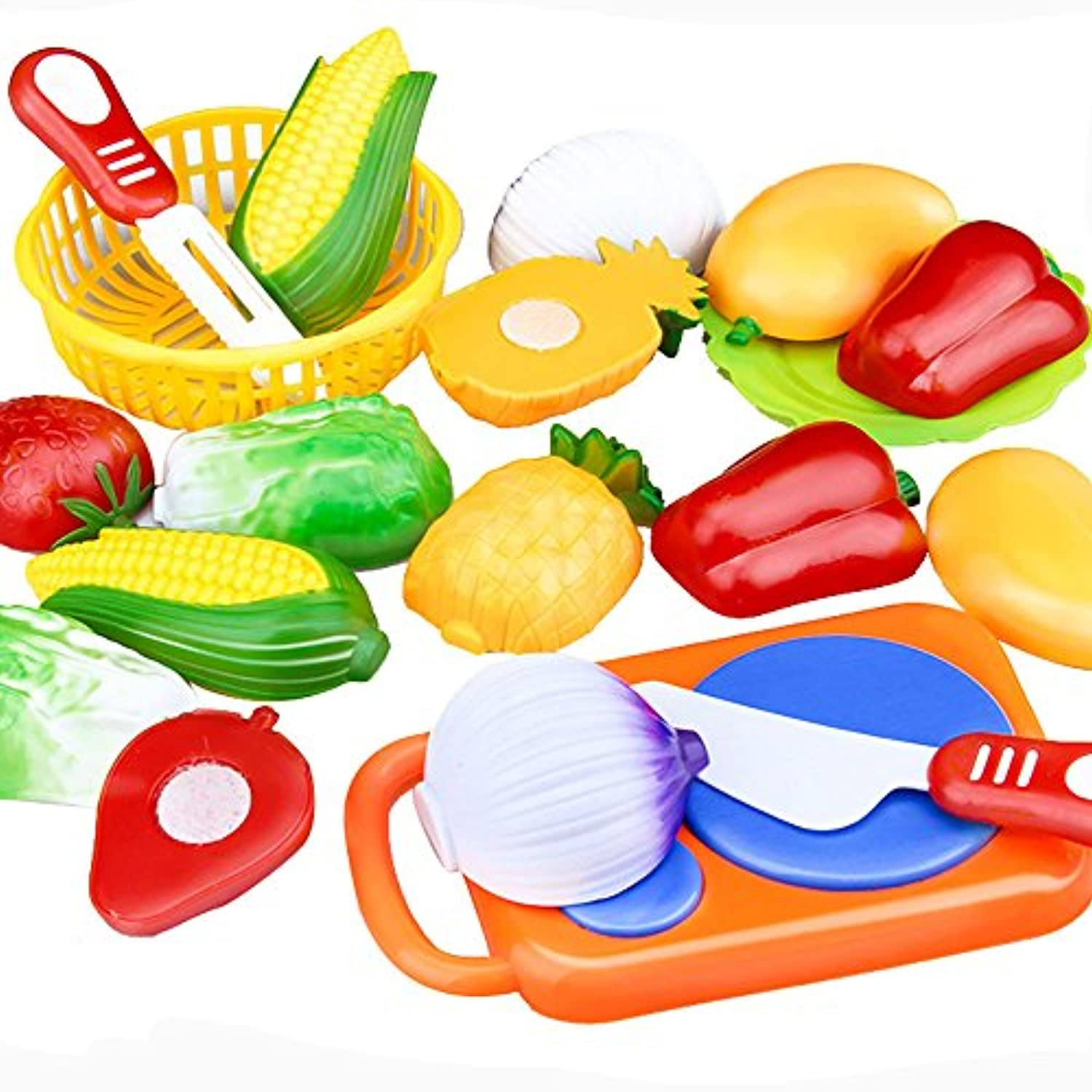 baomabao子供Kid 12pc Cutting Fruit Vegetable Pretend Play教育玩具