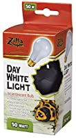 Zilla Reptile Terrarium Heat Lamps Incandescent Bulb, Day White, 50w by Energy Savers