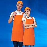 防水エプロン ポリエステル ノースリーブ 耐油性 リブ エプロン オーバー オール スモック ネックス トラップ キッチン カフェ 洗濯 絵画 クラフト 特大サイズ 1 pc-J 70x80cm(28x31inch)
