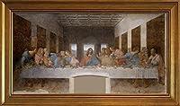 フレーム Leonardo da Vinci ジクレープリントキャンバスプリント絵画ポスター複製(最後の晩餐)