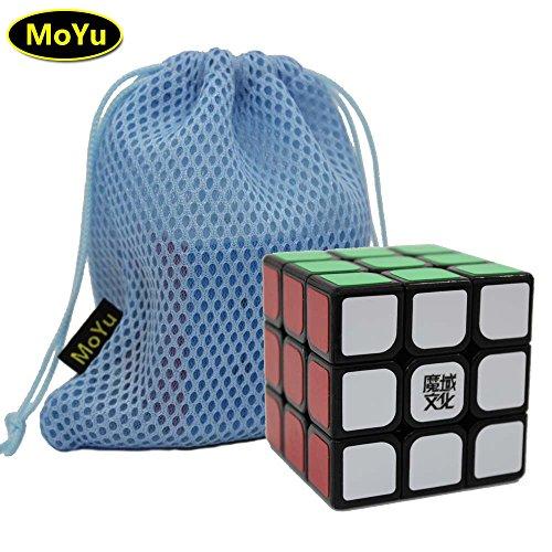 魔域文化 魔境文化 MoYu WeiLong V2 WeiLong Plus 3x3x3 黒三階のルービック・キューブ玩具 ブラック、スピードキューブ、知育玩具、チュートリアルが付属して 回転スムーズ 動き滑らか +1つの特製のルービック・キューブの袋