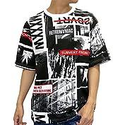 B ONE SOUL(ビーワンソウル) Tシャツ 半袖 総柄 メンズ