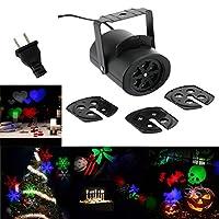 Lixada 85-260V 4W Mini LED RGB ゴーボーライト ステージライト 4pcs*変更可能マルチパターンカード を搭載 誕生日/パーティー/バレンタインデー/結婚式/ハロウィン/クリスマス/フェスティバル