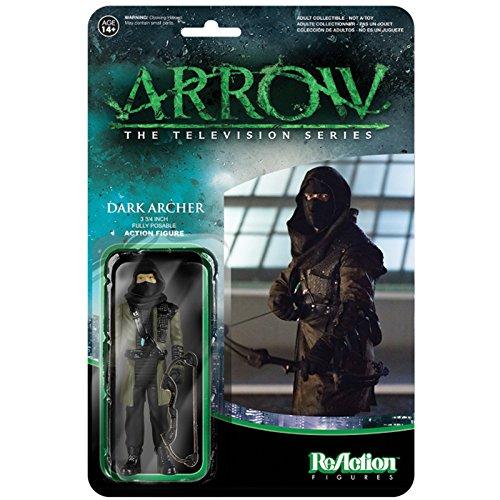 Funko Reaction DARK ARCHER Figure Lot CW TV Malcolm Merlyn//Ninja//Green Arrow
