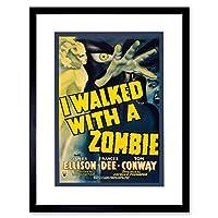 Movie Film Walked With Zombie Horror Terror Hand Framed Wall Art Print