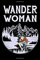 """Wander woman: Hiking Log book Journal To Write In, Keep Track Of Your Hikes, Trail Log Book, Hiking shoes, Hiking Journal, Hiking Log Book, Hiking Gifts, 6"""" x 9"""" Travel Size"""
