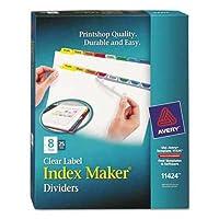 Avery印刷&適用クリアラベルディバイダーW /カラータブ、8-tab、文字、25セット