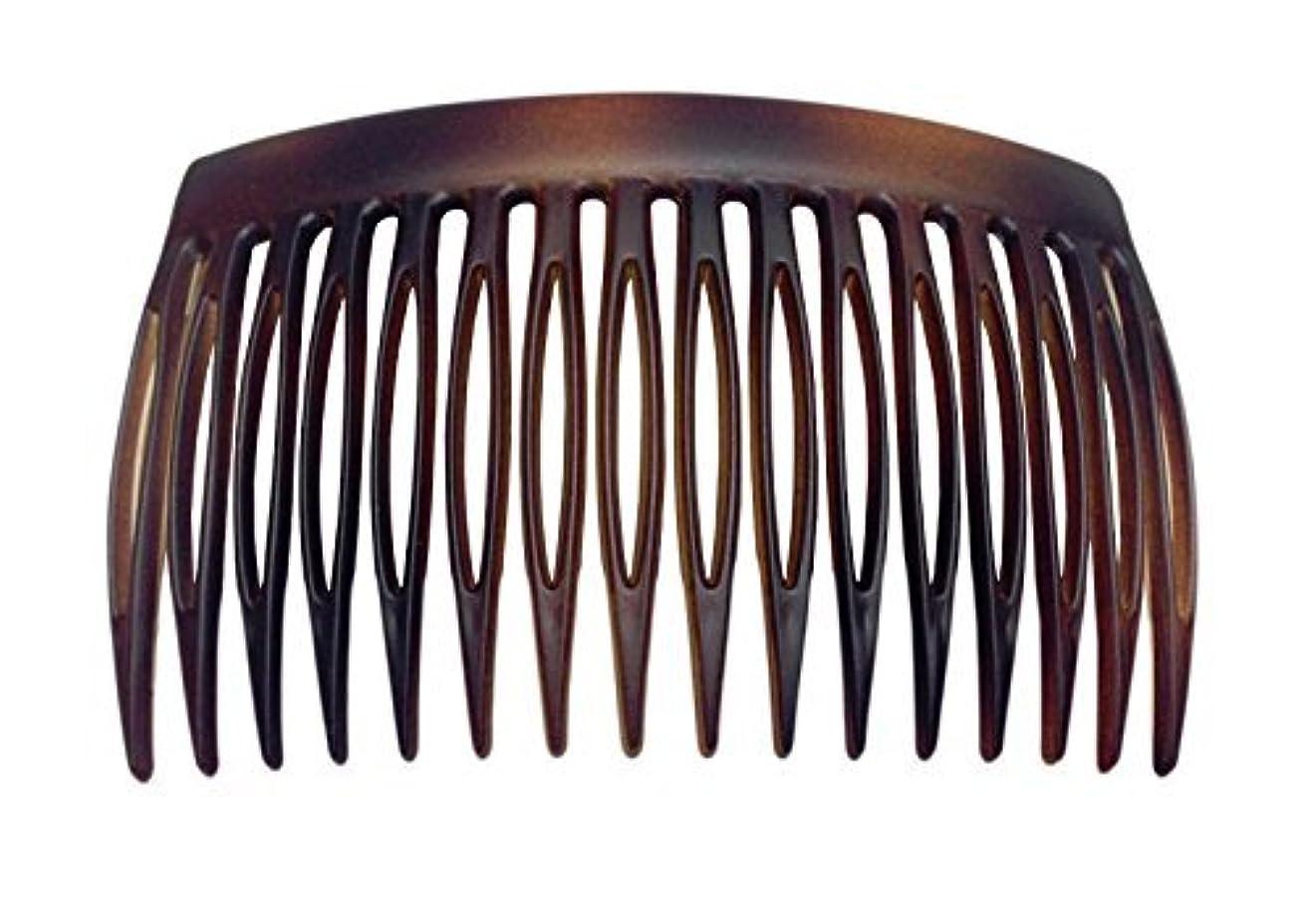 インタラクション思いやりカバレッジParcelona French 2 Pieces Matte Finish Celluloid Shell Good Grip 16 Teeth Hair Side Combs -2.75 Inch (2 Pcs) [...