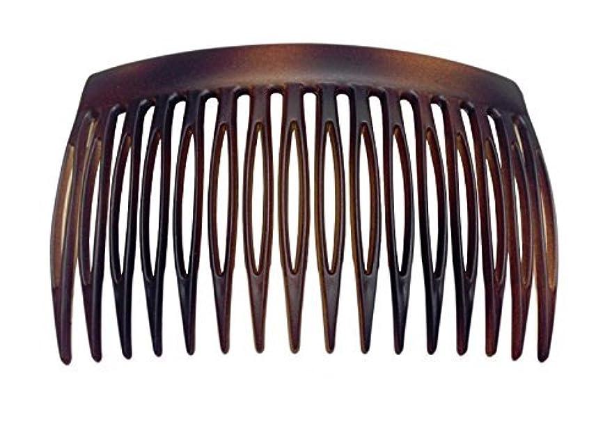 脅威ブローホール火山学者Parcelona French 2 Pieces Matte Finish Celluloid Shell Good Grip 16 Teeth Hair Side Combs -2.75 Inch (2 Pcs) [...