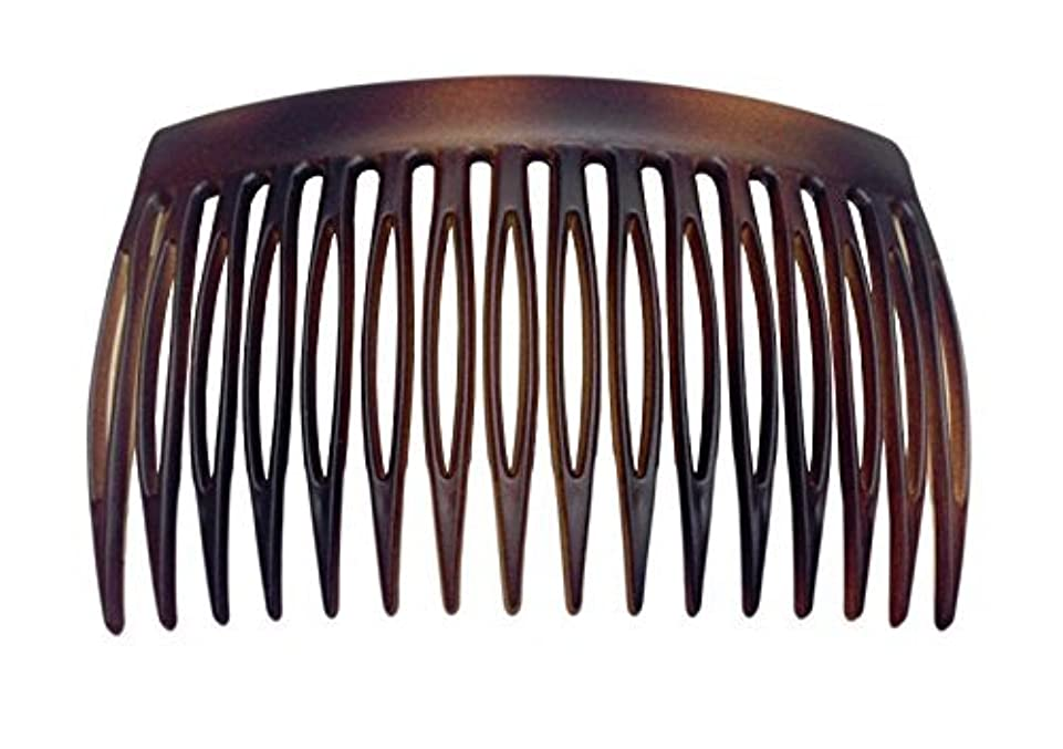 Parcelona French 2 Pieces Matte Finish Celluloid Shell Good Grip 16 Teeth Hair Side Combs -2.75 Inch (2 Pcs) [...