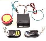オートバイ盗難防止アラーム 簡単取り付け 電池でも作動 日本語説明書付き バイクセキュリティー