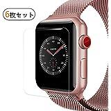 【6枚セット】BRG Apple Watch フィルム,アップルウォッチ HD画面保護 TPUスクリーン 保護シート アップルウォッチフィルム apple watch series 3,apple watch series 2,apple watch series 1対応 (42mm,クリア)