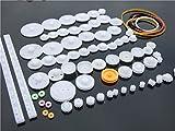 歯車 プラスチック ギア 75 種 セット おもちゃ ロボット等の 製作 に 工作 DIY パーツ